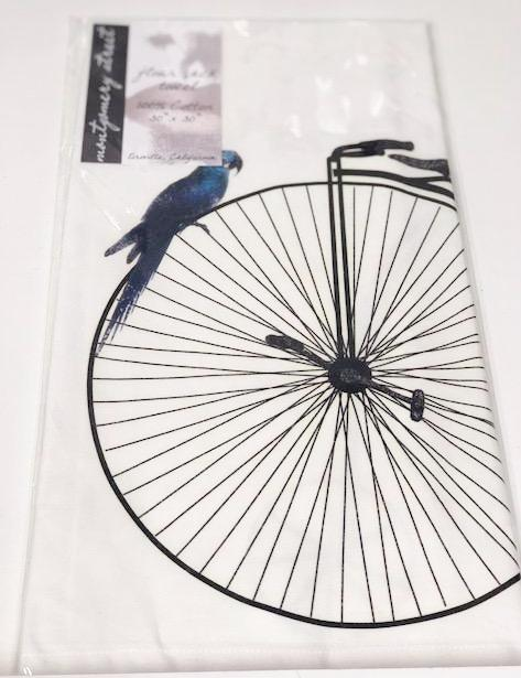 KITCHEN TOWEL - MS - PARROT AND BIKE