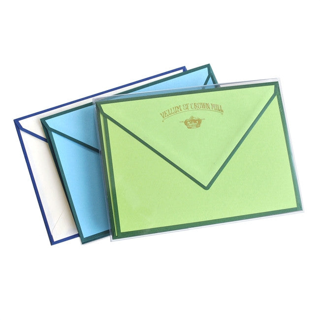 BOXED NOTE CARDS - OCM - GREEN BORDERED CARDS