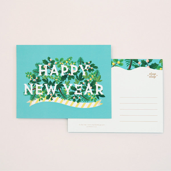 NEW YEAR POSTCARD SET - CC - HAPPY NEW YEARS
