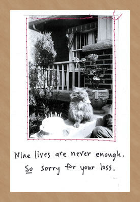 NINE LIVES - SYMPATHY CARD
