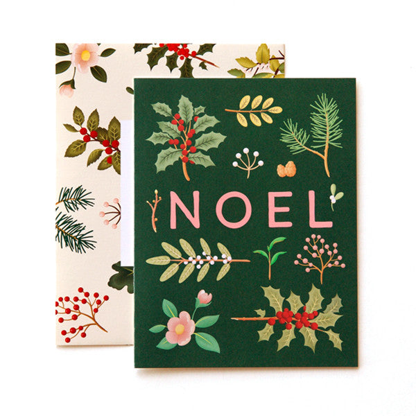 CHRISTMAS - CC - NOEL WITH CHRISTMAS FLORAL WITH FLORAL ENVELOPE