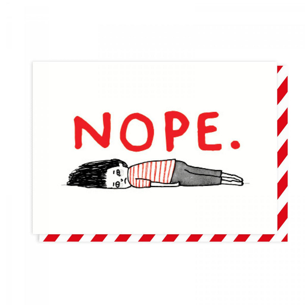 NOPE. - GREETING CARD