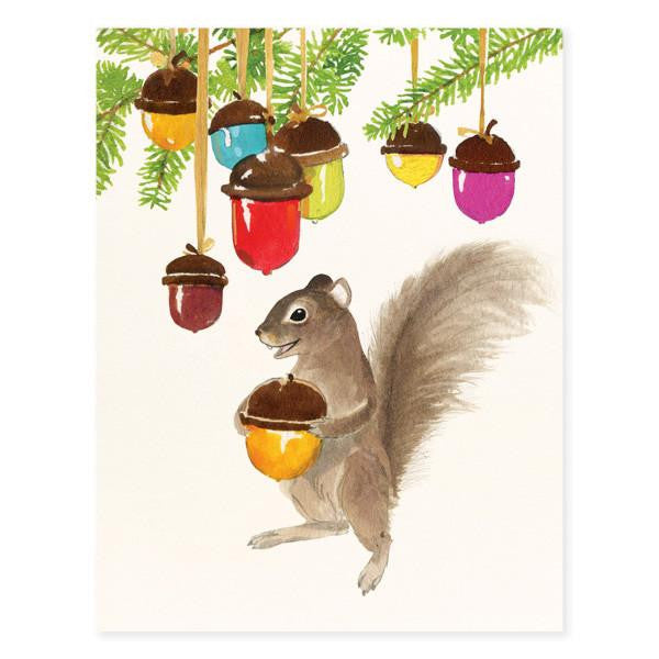 CARD - FD - SQUIRREL & ORNAMENT NUTS