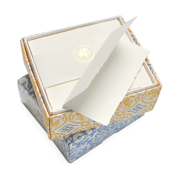 PLACE CARDS - OA - MEDIOEVALIS DECKLED PLACE CARDS- IVORY