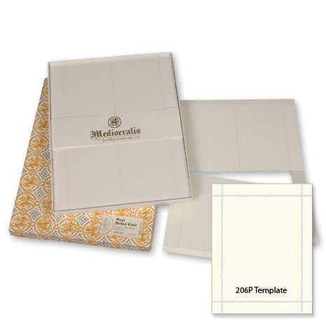 BOXED STATIONERY - OA - MEDIOEVALIS DECKLED SHEETS- WHITE