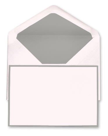 BOXED NOTE CARDS - OCM - PINK & GREY