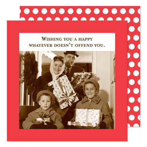 HOLIDAY BEVERAGE NAPKINS - SM- WISHING YOU A HAPPY...