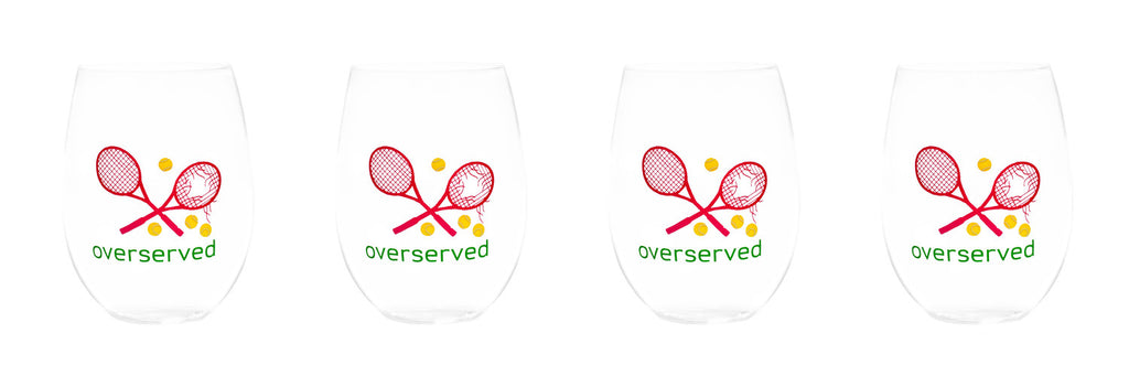 STEMLESS WINE GLASSES - AM - OVERSERVED