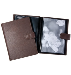 LEATHER BRAG BOOK - GI - MOCHA
