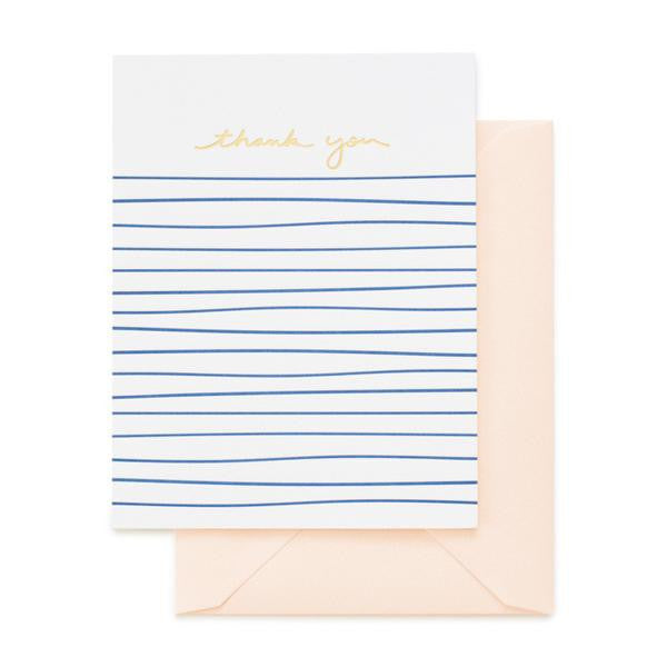 PINK, BLUE & GOLD FOIL - BOXED THANK YOU NOTES