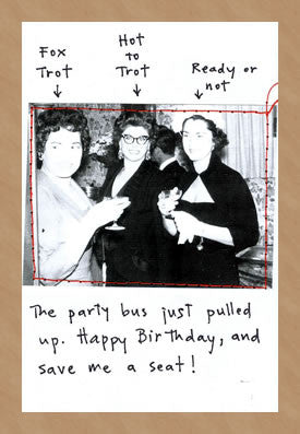 PARTY BUS - GREETING CARD
