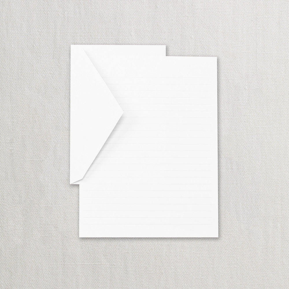 RULED PEARL WHITE HALF SHEET