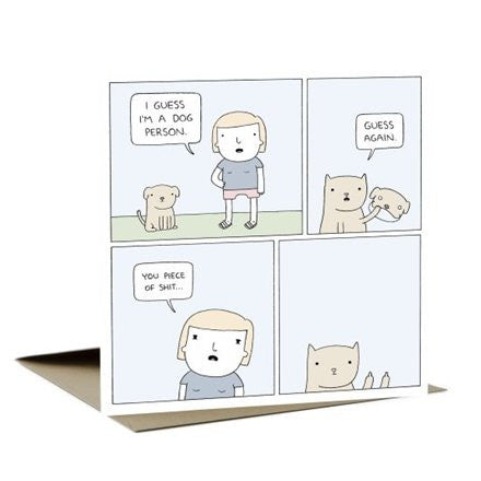 I'M A DOG PERSON - GREETING CARD