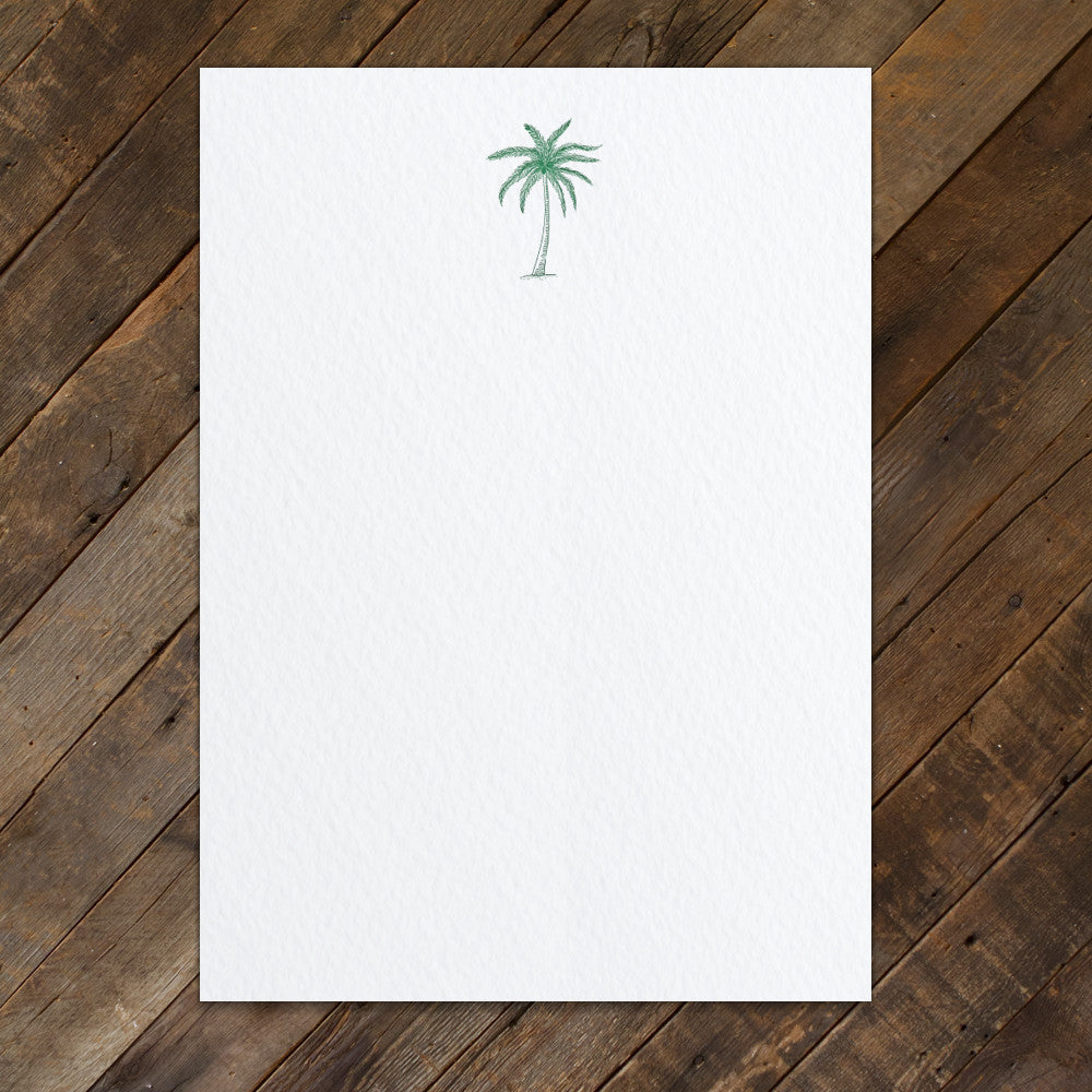 BOXED NOTECARDS - PP - PALM TREE LETTERPRESS