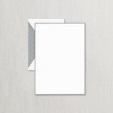 BOXED HALF SHEETS - CCO - PEWTER BORDERED PEARL WHITE