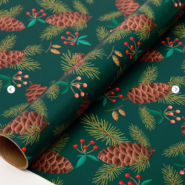 HOLIDAY WRAP - CC - PINE CONE