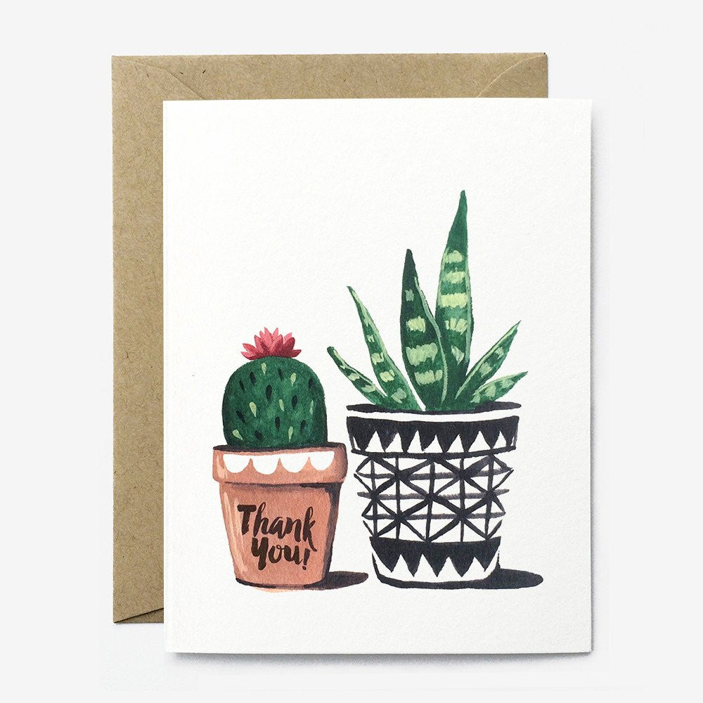 THANK YOU CARD - PPC - SUCCULENT PLANTS