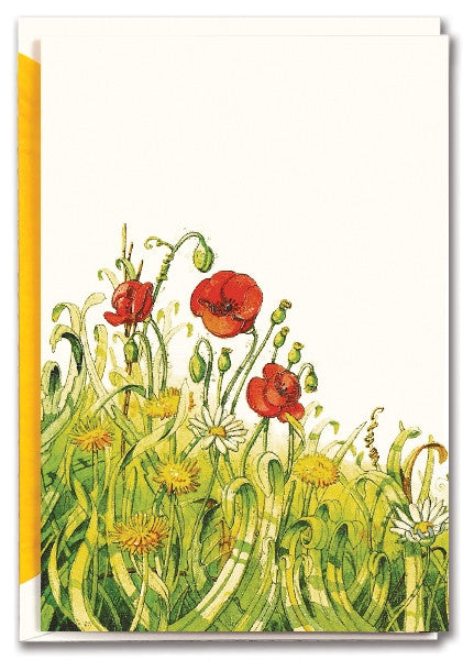 BLANK POPPY - GREETING CARD