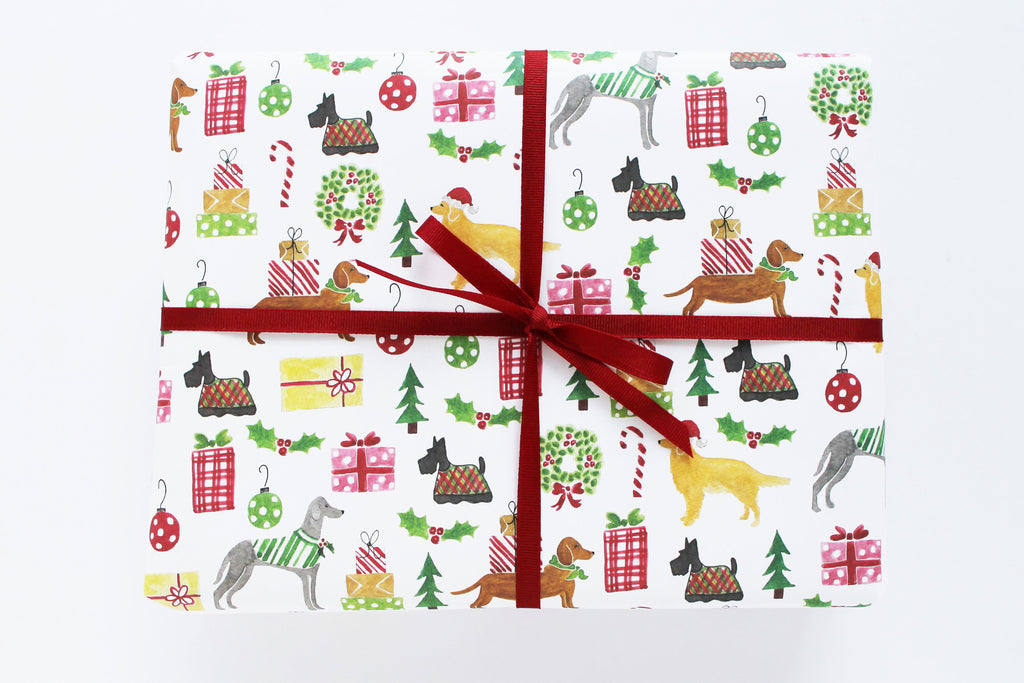 CHRISTMAS WRAPPING PAPER - LP - HOLIDAY DOGS