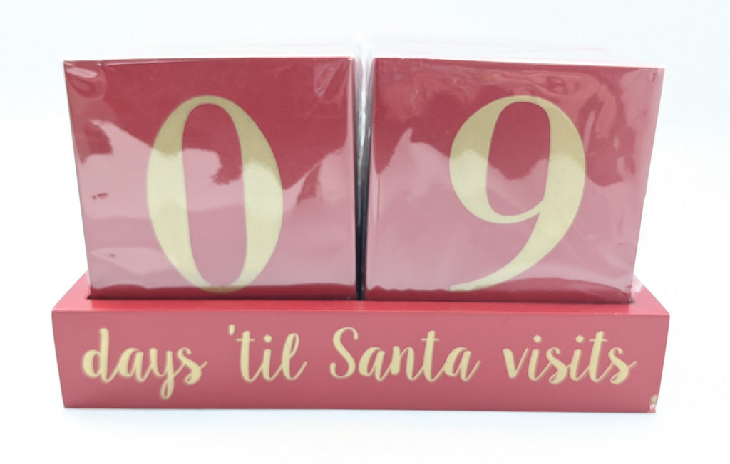 CHRISTMAS COUNTDOWN TO CHRISTMAS BLOCKS - EOL - RED & GOLD