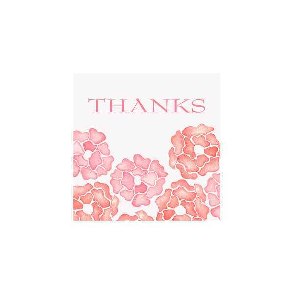GIFT ENCLOSURE CARDS - BI - PEONY SET OF 10