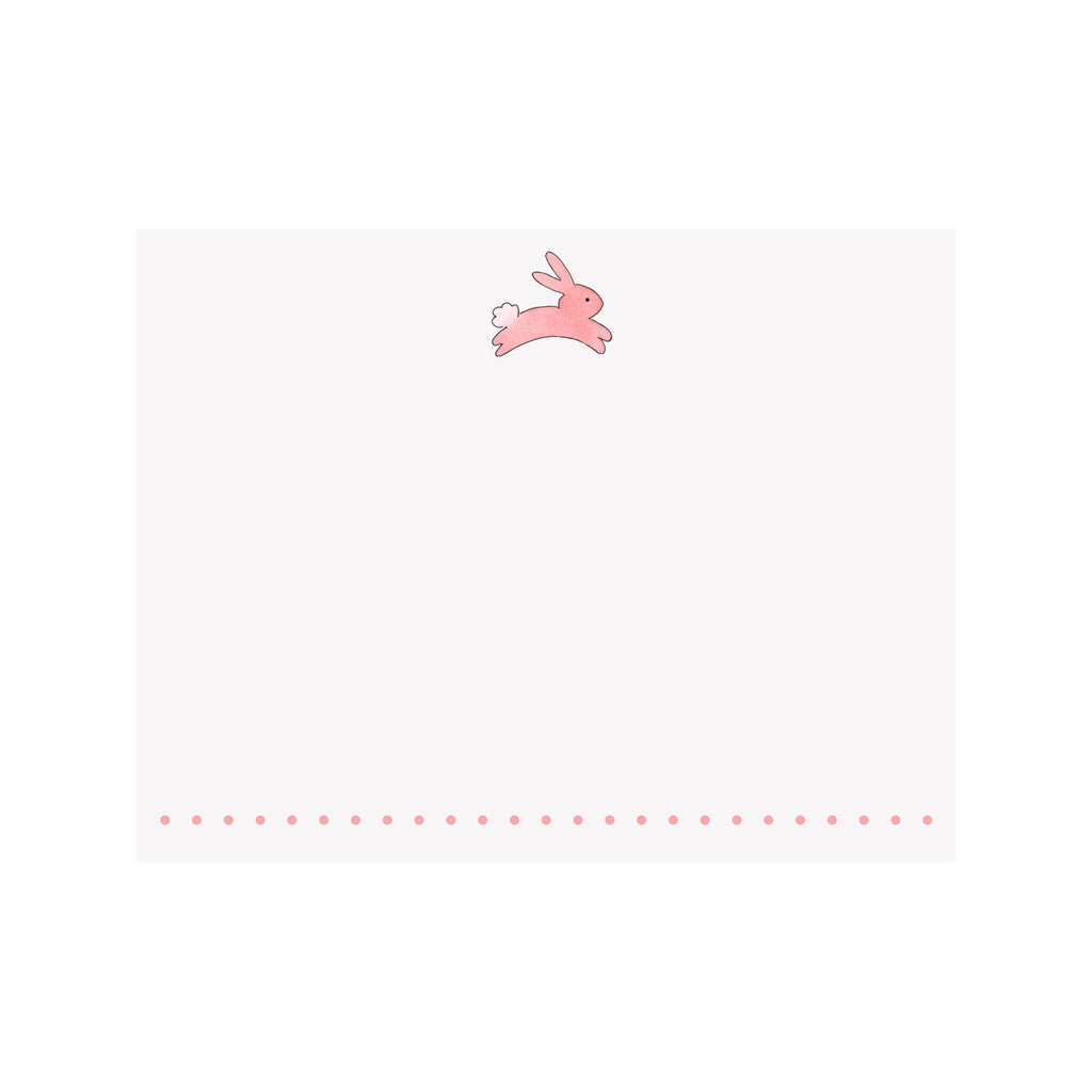BOXED NOTE CARDS - BI - PINK BUNNY