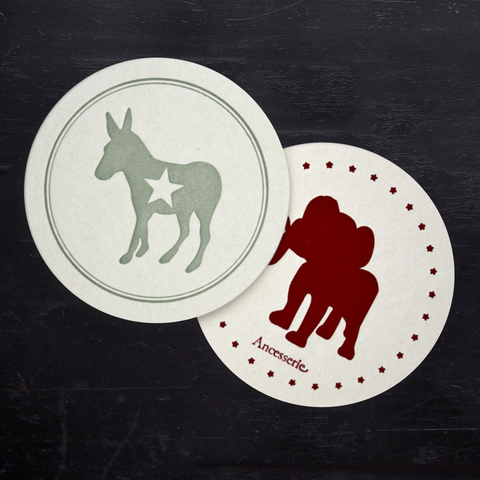 POLITICAL PARTY COASTER SET