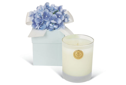 GIFT CANDLE - LF - 14  OZ BLUE HYDRANGEA CANDLE