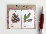GIFT TAGS - GOT - MISTLETOE AND PINECONE SET OF 10