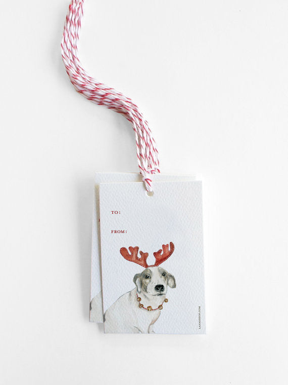 REINDEER DOG - GIFT TAGS