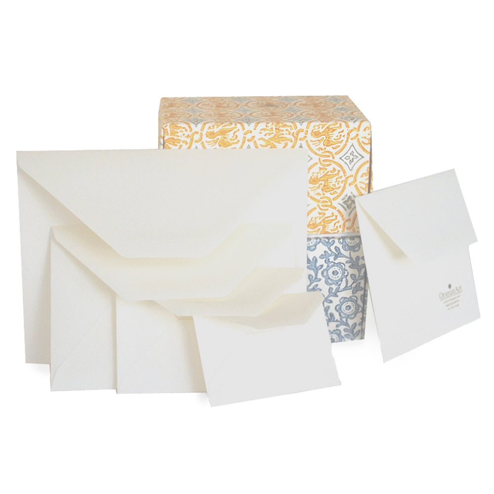 BOXED ENVELOPES - OA - MEDIOEVALIS ENVELOPES- WHITE