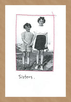 SISTERS. - GREETING CARD