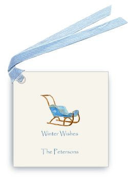 GIFT TAGS - LB - SLEIGH WINTER WISHES NOT PERSONALIZED SET OF 6