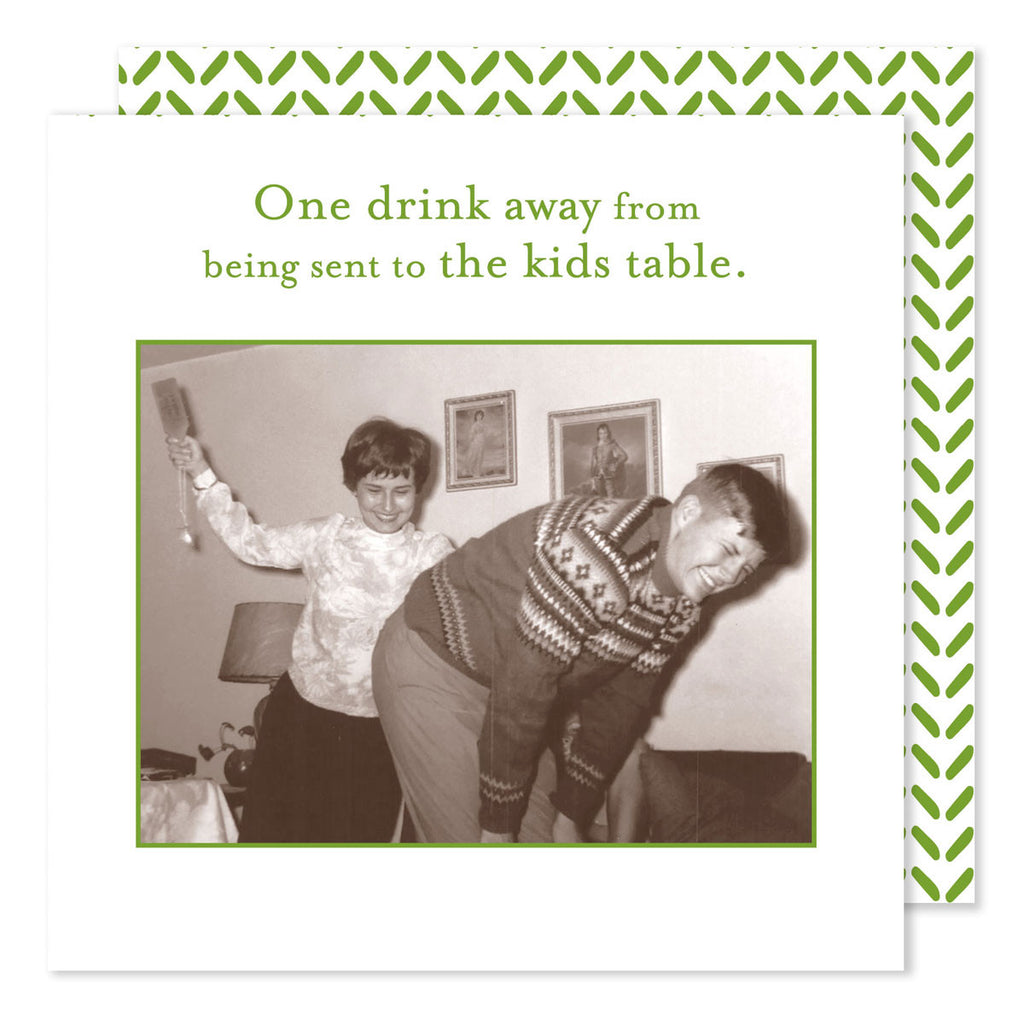 HOLIDAY BEVERAGE NAPKINS - SM- ONE DRINK AWAY