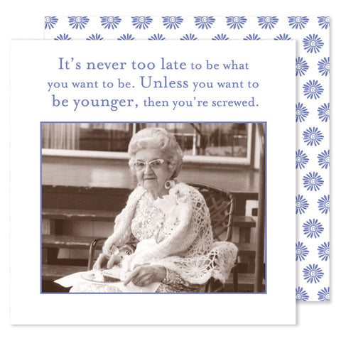 BEVERAGE NAPKINS - SM - NEVER TOO LATE