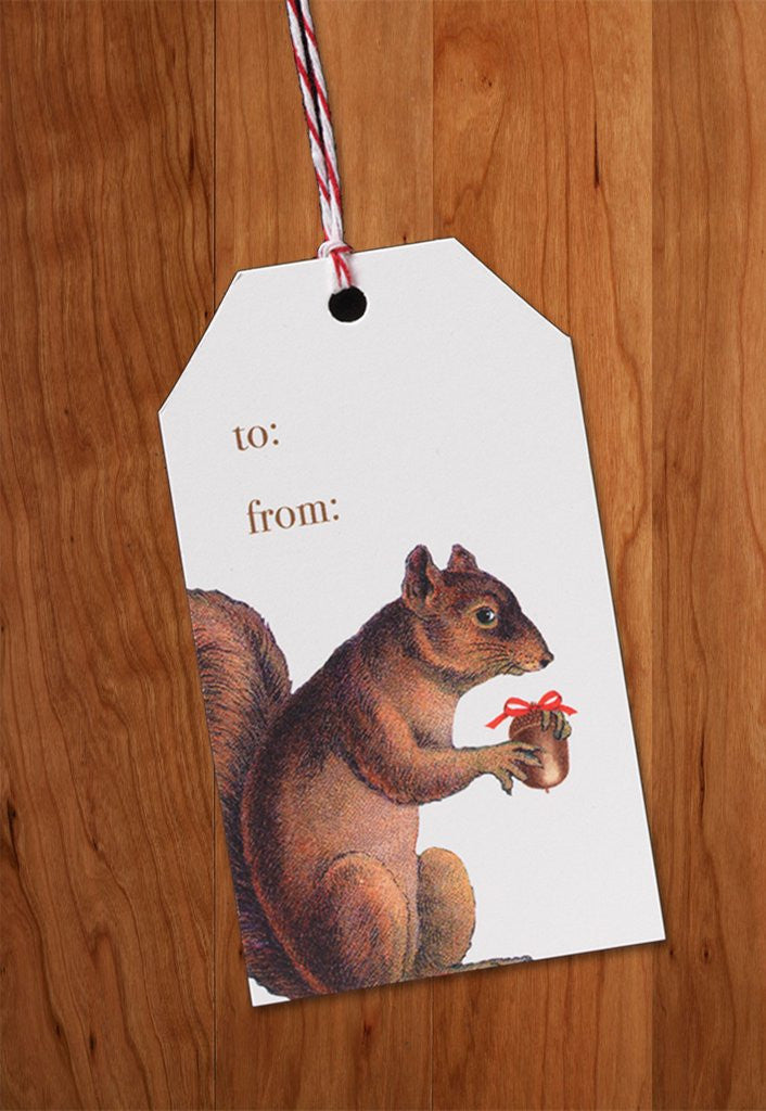 GIFT TAGS - PFD - SQUIRREL