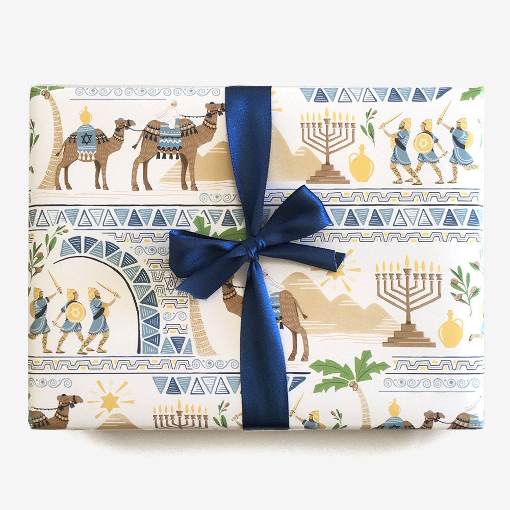 HANUKKAH STORY - WRAPPING PAPER