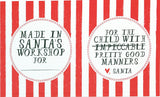 CHRISTMAS GIFT TAGS - MRB- ASSORTED STICKERS
