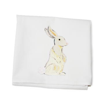 KITCHEN TOWEL - TLD - WHITE BUNNY