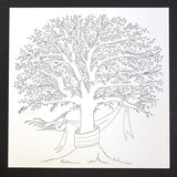 BABY - ANC- LARGE LETTERPRESS TREE OF FIRSTS IN BLUSH, AQUA OR GREY