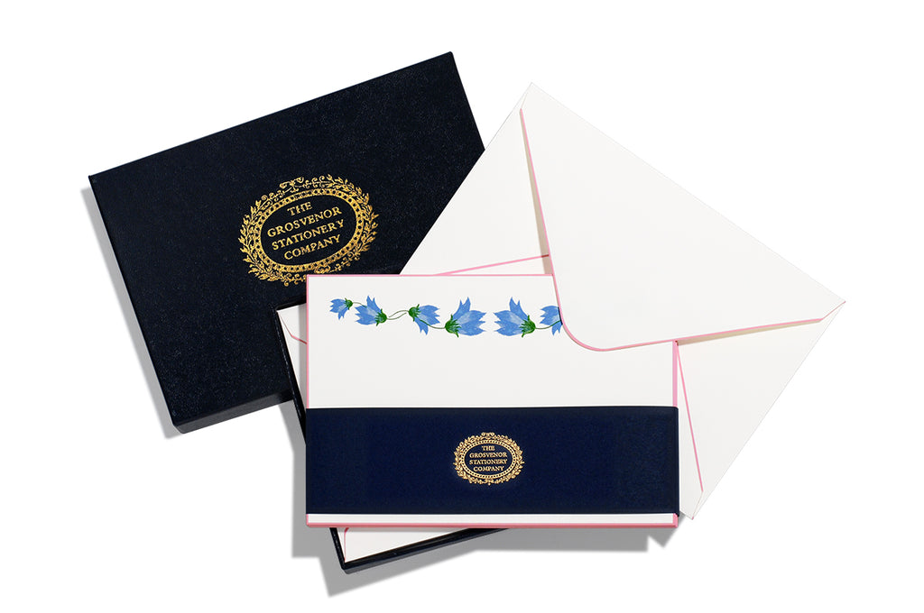 BOXED NOTE CARDS - TGSC - MORNING GLORY GARLAND - ENGRAVED