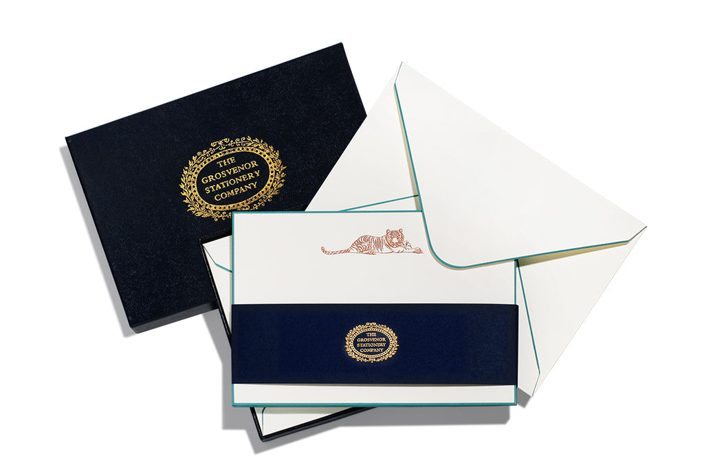BOXED NOTE CARDS - TGSC - TIGER - ENGRAVED