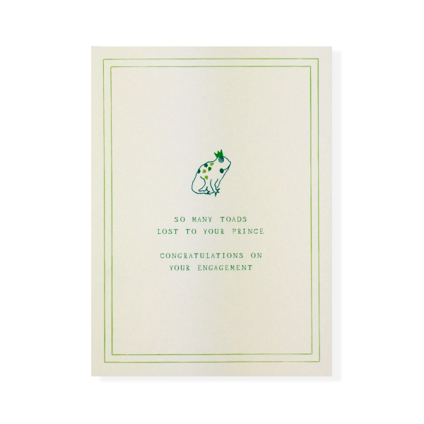 SO MANY TOADS - ENGAGEMENT CARD