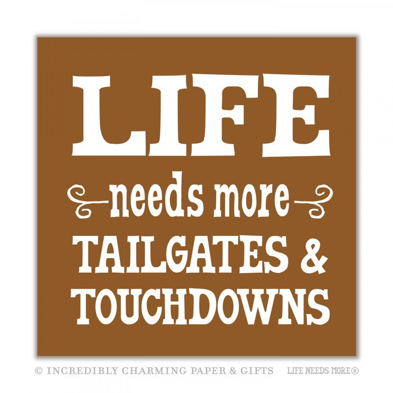 MORE TAILGATES & TOUCHDOWNS - BEVERAGE NAPKINS