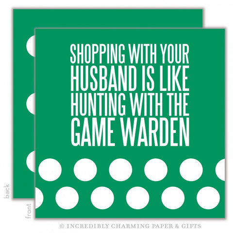 BEVERAGE NAPKINS - ICPG - SHOPPING WITH YOUR HUSBAND