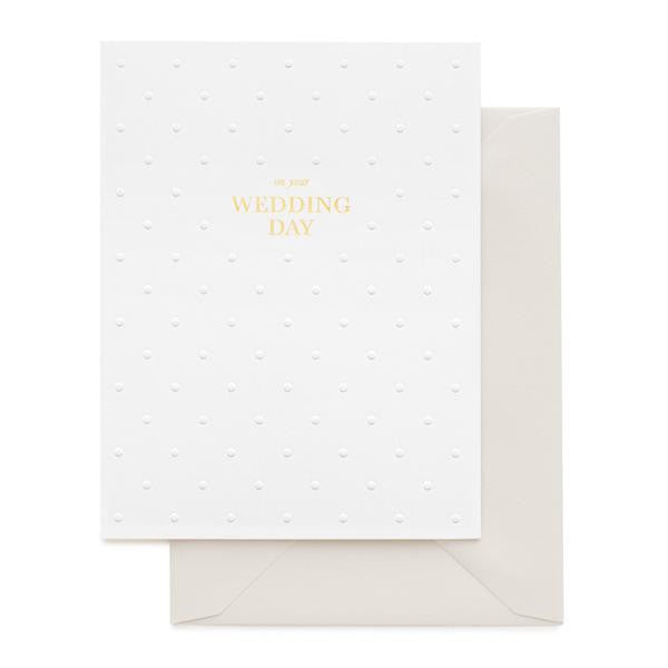ON YOUR WEDDING DAY - GREETING CARD