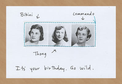 IT'S YOUR BIRTHDAY. GO WILD. - GREETING CARD