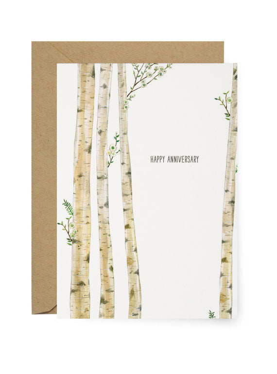TREES HAPPY ANNIVERSARY - GREETING CARD