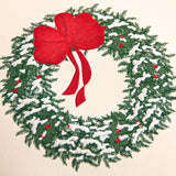 CHRISTMAS BOXED CARDS- CCO - ENGRAVED SNOWY WREATH