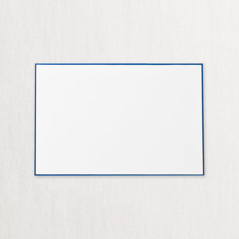 BOXED CARDS - CCO - REGENT BLUE BORDERED PEARL WHITE BULK CORRESPONDENCE CARD NO ENVELOPES